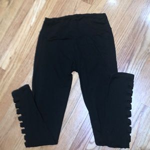 Hot Kiss Black With Mash Inserts Leggings Size M